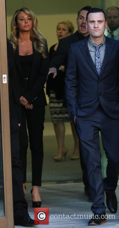 Tulisa Contostavlos and Gareth Varey at Westminster Magistrates