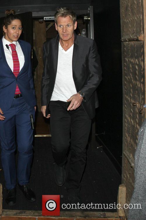 David Beckham and Gordon Ramsay seen leaving Chakana nightclub