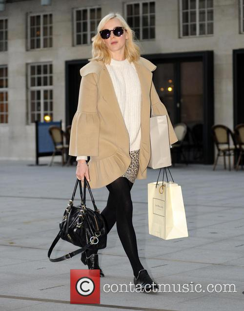 Fearne Cotton arriving at Radio 1
