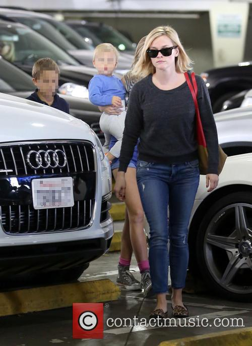Reese Witherspoon out and about with kids