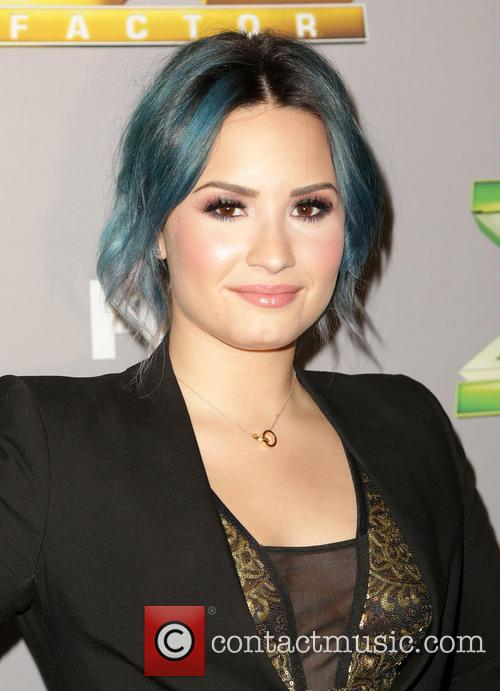 Demi Lovato at the X-Factor season 3 finale