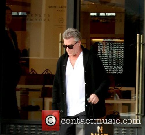Ray Liotta leaving Barney's New York