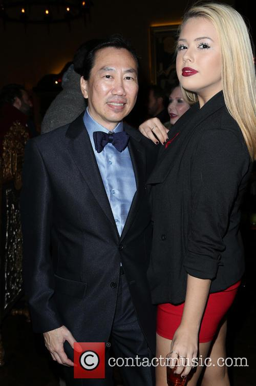 Celebrities at the Sue Wong Christmas Party -...