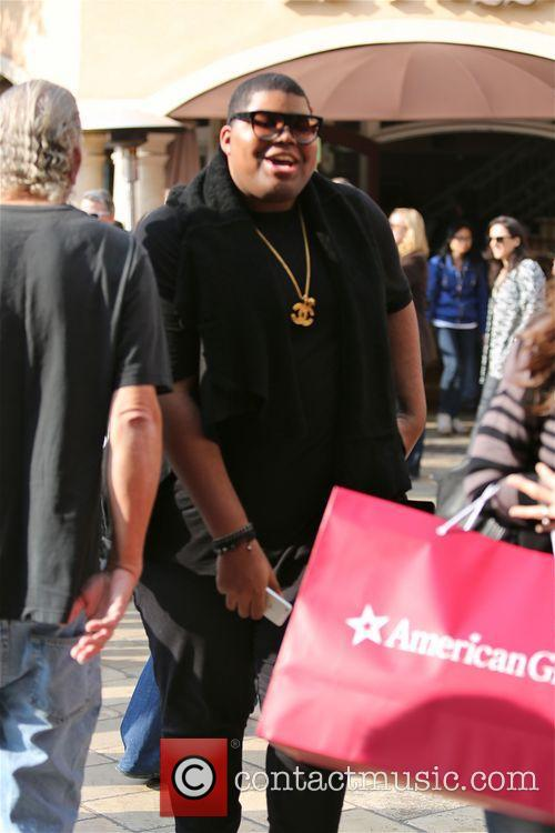 Earvin Johnson III shops at The Grove in...