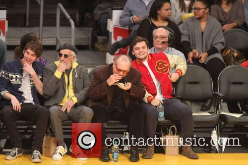 jack nicholson celebs at lakers game 4005081