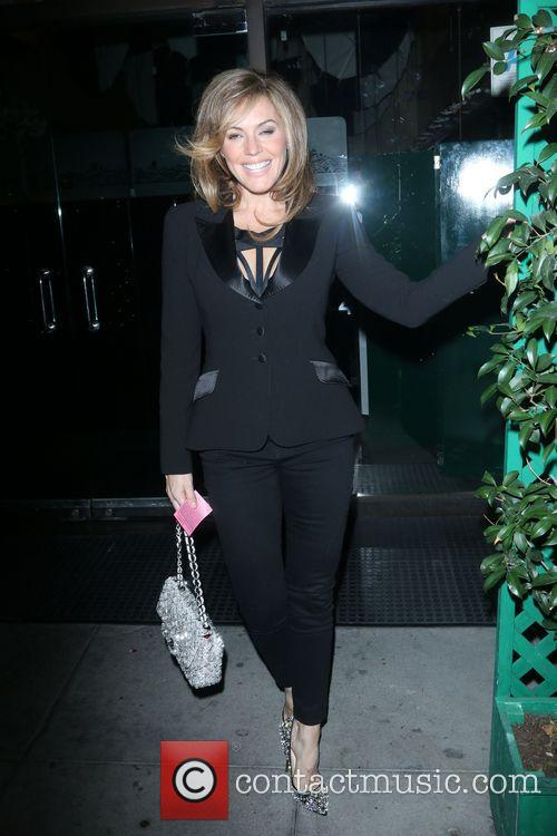 Sandra Taylor Arriving At Mr Chow
