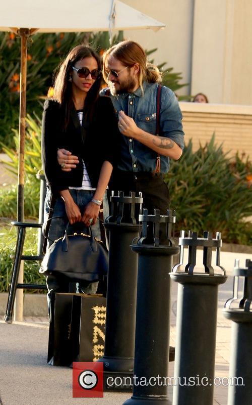 Zoe Saldana and Marco Perego 2