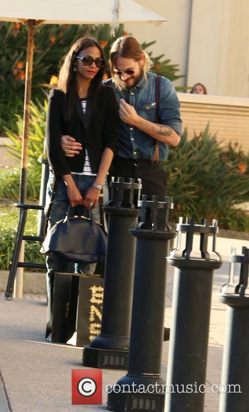 Zoe Saldana and Marco Perego 10