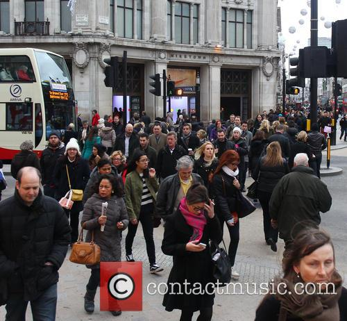 West End Christmas shoppers