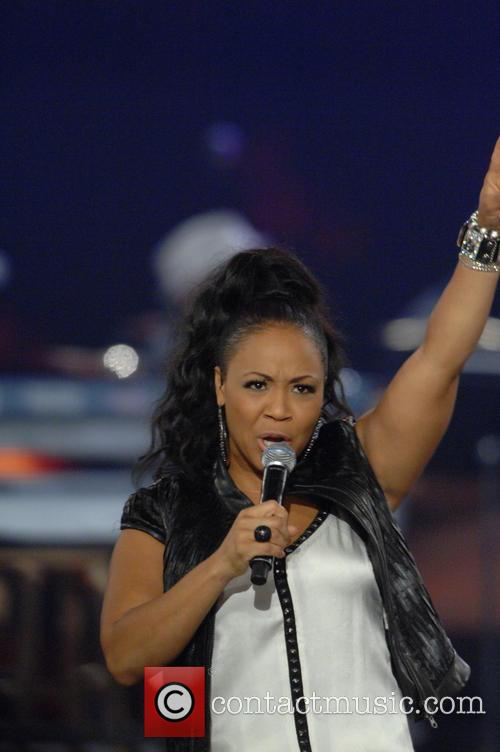 Erica Campbell at the AT&T performing Arts Center