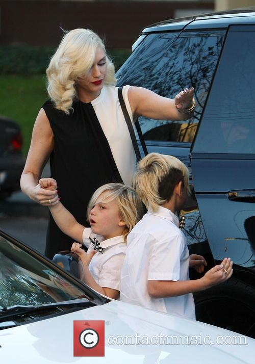 Gwen Stefani, Kingston Rossdale and Zuma Rossdale 3