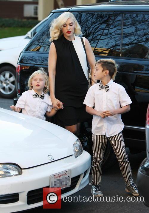 Gwen Stefani, Kingston Rossdale and Zuma Rossdale 8