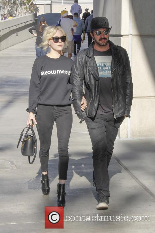 alessandra torresani celebrities out at the lakers 4007343