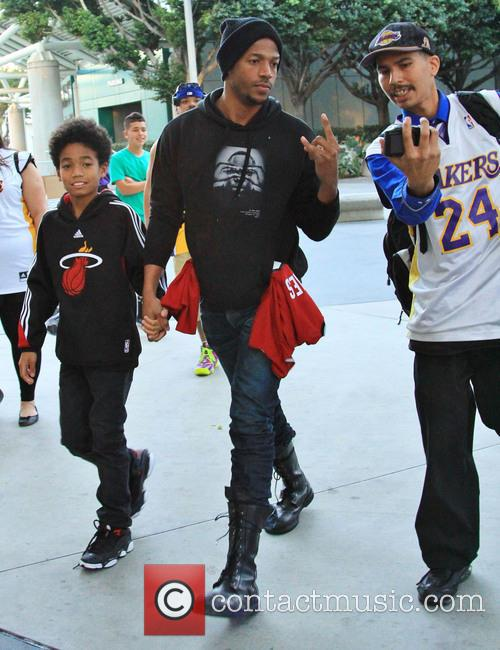 marlon wayans shawn wayans celebrities at the lakers 4007429