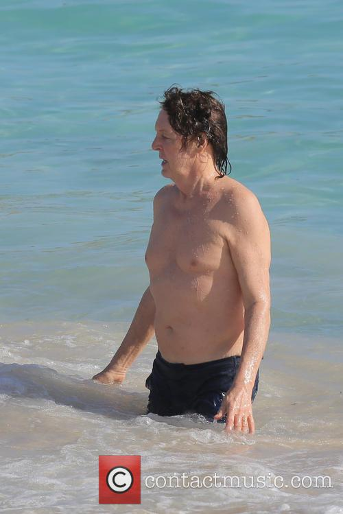 Paul McCartney and wife Nancy Shevell enjoying their holiday at Salines Beach in Saint Barthelemy