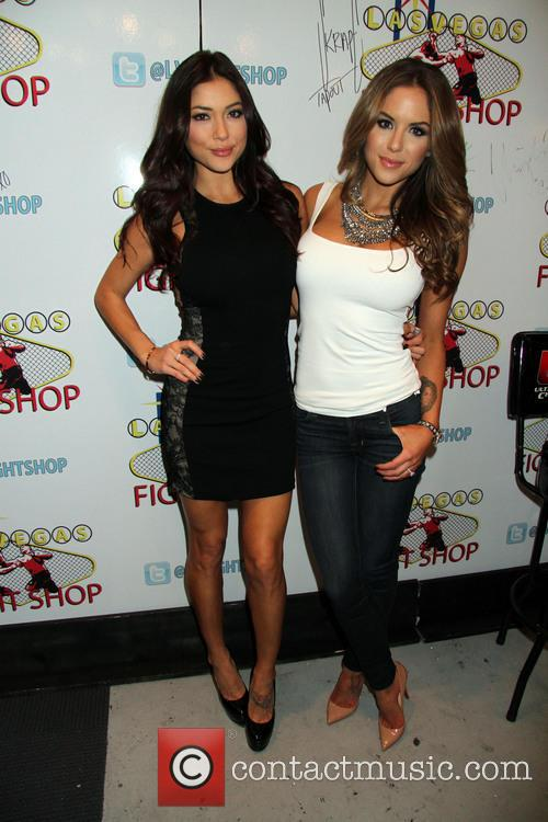 ?Arianny Celeste and Brittany Palmer sign copies of...