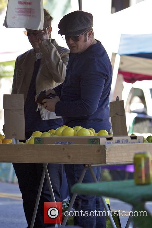 Chaz Bono at a local farmers market
