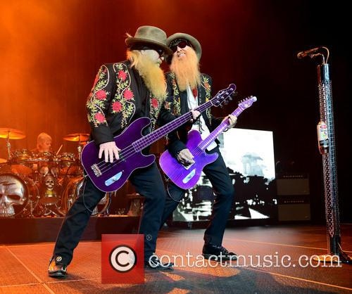 Dusty Hill and Billy Gibbons Of Zz Top