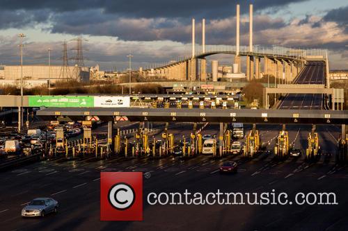 The Queen Elizabeth II Bridge and M25 Crossing...