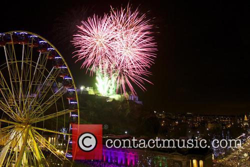 Fireworks display and performances at The Edinburgh Hogmanay...