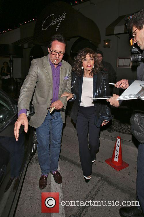 Joan Collins leaves Craig's