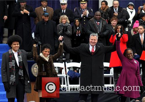 Mayor Bill De Blasio and And Family 5