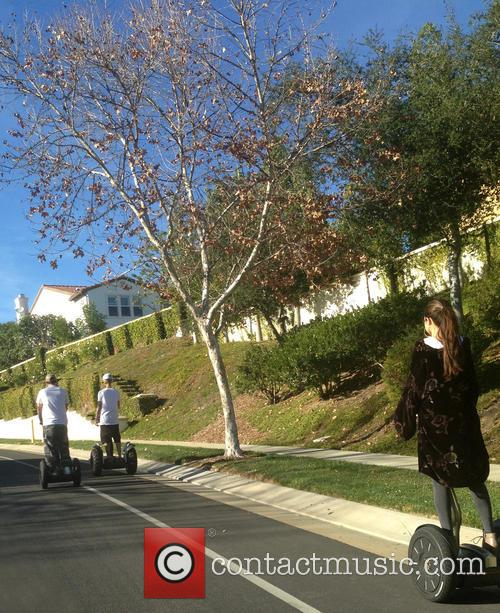 Justin Bieber and Selena Gomez ride Segways together