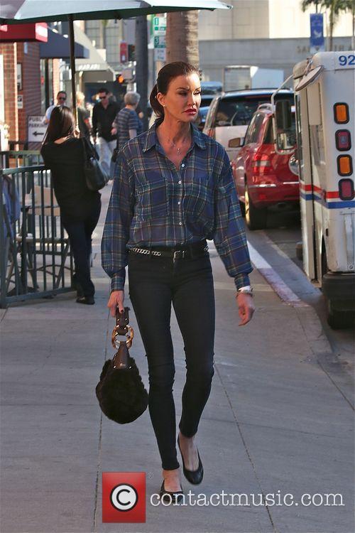 Janice Dickinson walks around in Beverly Hills