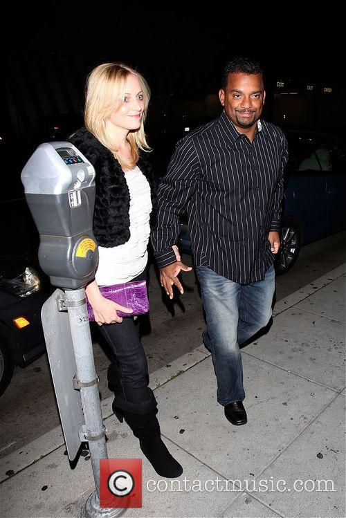 Alfonso Ribeiro arrives at Mr Chow with Angela...