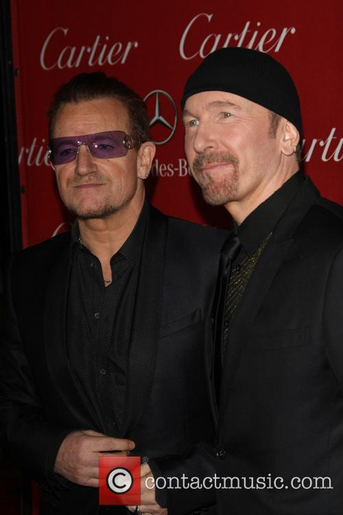 Bono and The Edge at the Palm Springs International Film Festival last month.