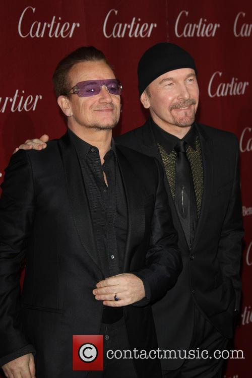Bono, The Edge, U2, Palm Springs Convention Center