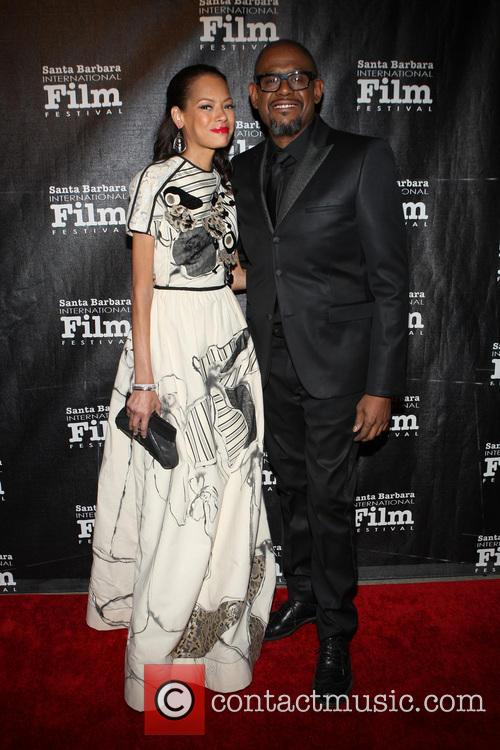 Keisha Whitaker and Forest Whitaker 8