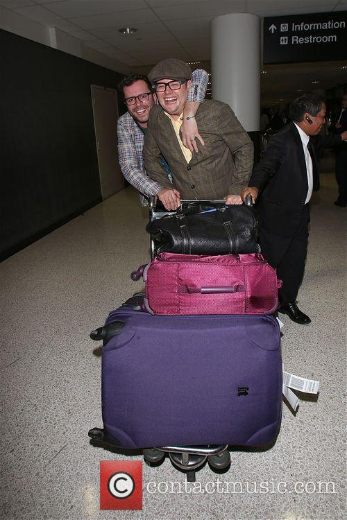 Alan Carr and partner Paul Drayton arrive at...