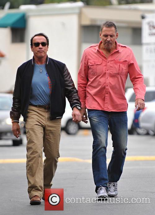 Arnold Schwarzenegger In Brentwood