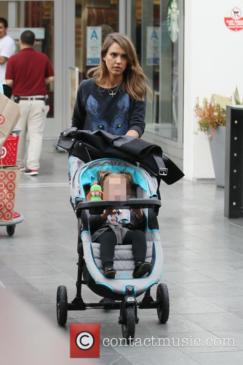Jessica Alba Goes Shopping At Target