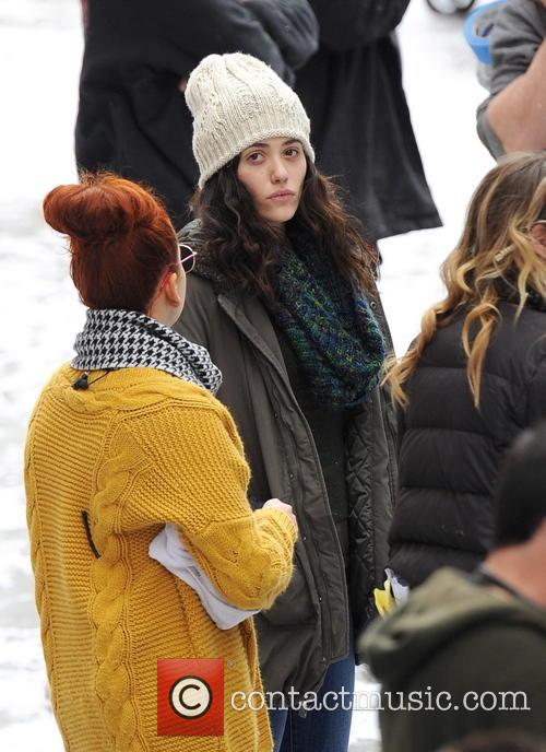 emmy rossum emmy rossum filming on shameless 4012832