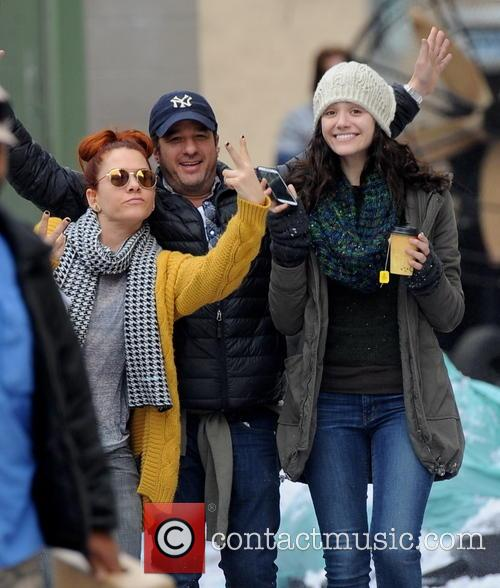 "Emmy Rossum Filming On ""Shameless"" Set"