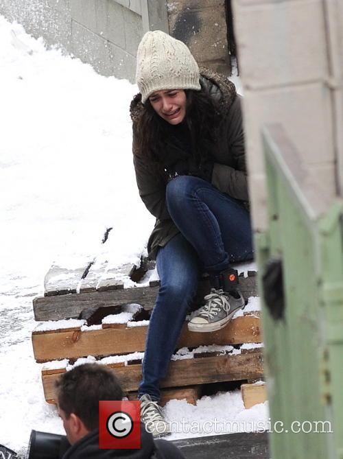 Emmy Rossum Filming On