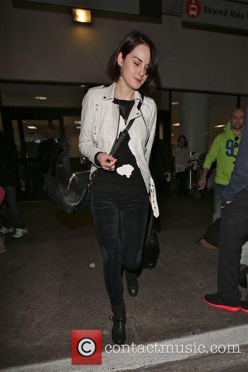 Michelle Dockery arrives in Los Angeles at LAX