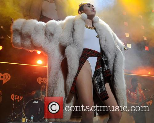 Miley Cyrus performing live in concert in Sunrise