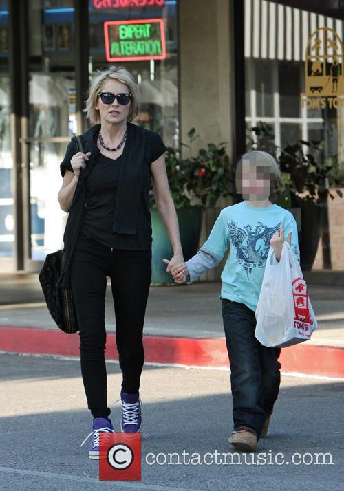 Sharon Stone and Quinn Kelly Stone 1