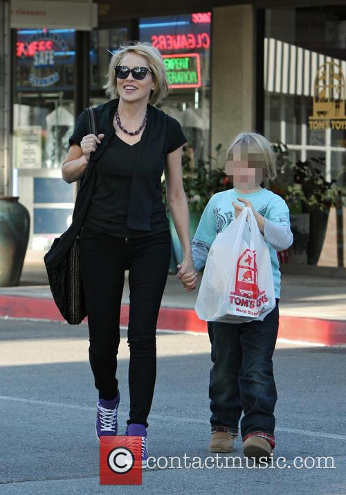 Sharon Stone and Quinn Kelly Stone 6