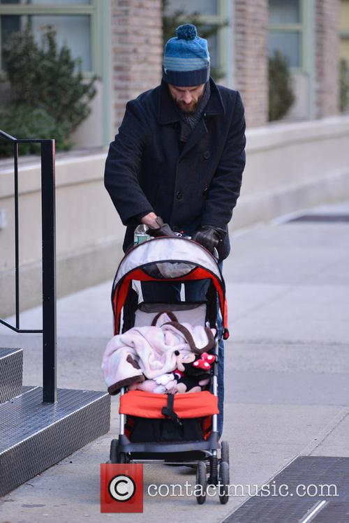 Jason Hoppy seen pushing a stroller