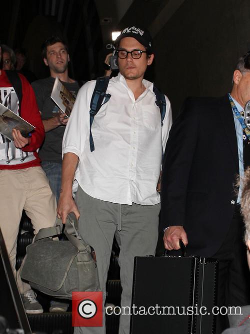 John Mayer seen arriving at LAX