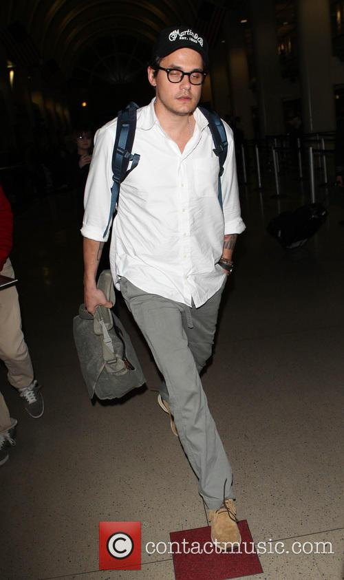 John Mayer seen arriving at LAX