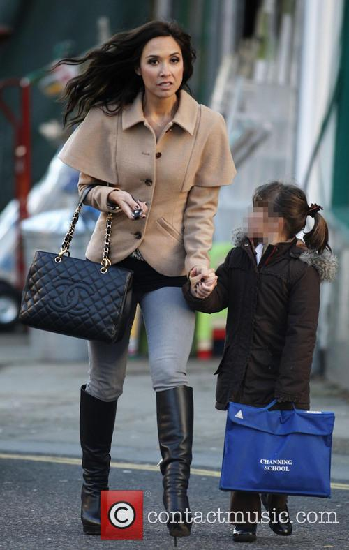 Myleene Klass and her daughter Ava Quinn out...