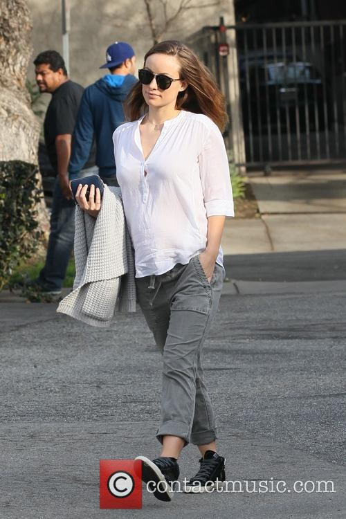 Olivia Wilde leaving lunch at Hugo's cafe