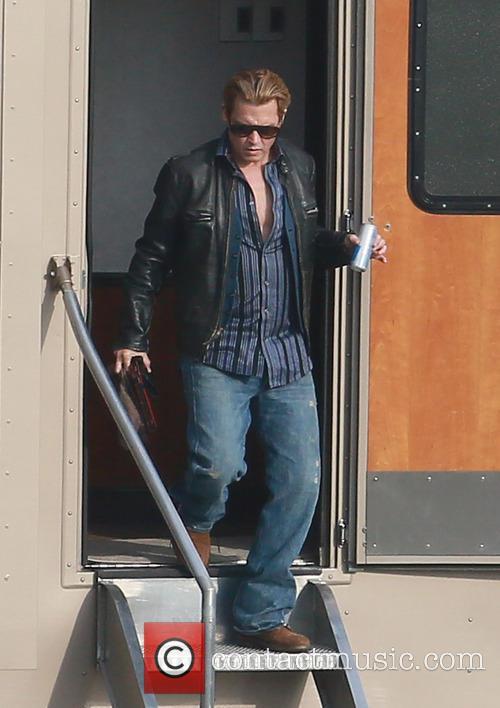 Johnny Depp Mortdecai Filmset