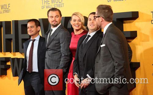 Joey Mcfarland, Margot Robbie, Leonardo Dicaprio, Jonah Hill and Riza Aziz