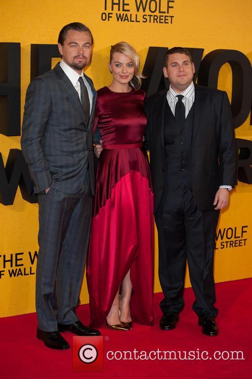 Leonardo DiCaprio, Margot Robbie, Jonah Hill, Leicester Square, Odeon Leicester Square